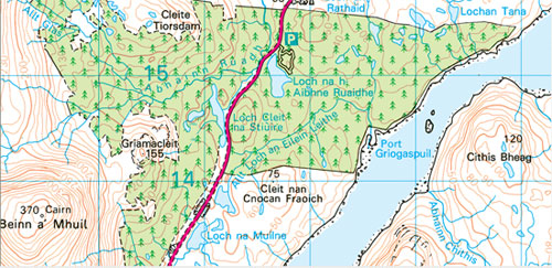 OS Map of Aline Forest