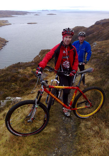Paul, Gavin and Steve's bike - Reinigeadal to Urgha trail