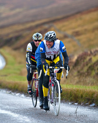 Ian and Evelyn taking part on a tandem at Ullapool Sportive 2012!